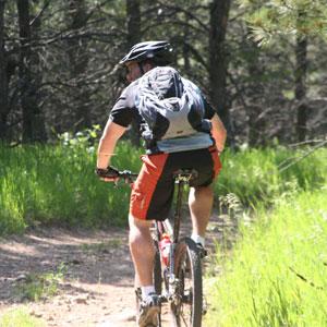 John, riding his trusty Ellsworth Truth in the Black Hills of South Dakota